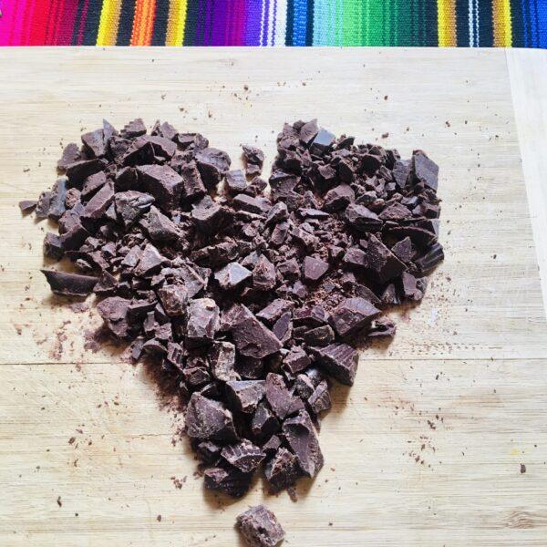 Kakao auf Brett Herz